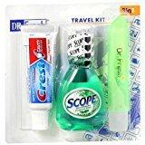Dr Fresh Travel Size Scope, Crest & Toothbrush 1 set