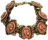 One Kings Lane Vintage 1940s Carved Cameo Gold Bracelet