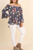 Umgee USA Grey Floral Top
