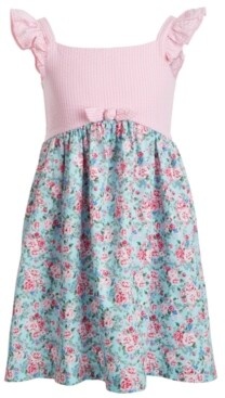Bonnie Jean Little Girls Seersucker Floral-Print Dress