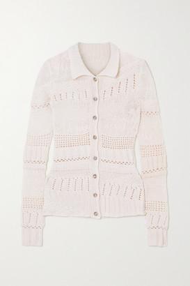 Gabriela Hearst Nitsan Crocheted Cashmere Cardigan - Ivory