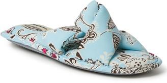 Dearfoams Womens Angela Paisley Twist Slide Slippers