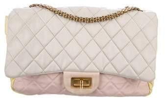 Chanel Tricolor Faille Jumbo Flap Bag