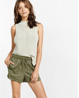 Express Mid Rise Utility Soft Shorts