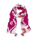 Mela Artisans Ikat Damask in Pink Scarf