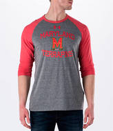 Under Armour Men's Maryland Terrapins College Charged Tri-Blend Henley Shirt