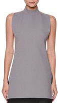 Marni Sleeveless Turtleneck Open-Back Sweater, Gray