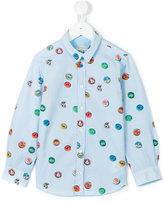 Paul Smith cap print shirt - kids - Cotton - 3 yrs