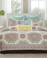 Echo Indira Red California King Comforter Set