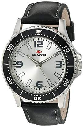 Seapro Men's SP5310 Tideway Stainless Steel and Leather Watch