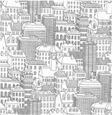 NuwallpaperTM Metropolis Peel & Stick Wallpaper in Black