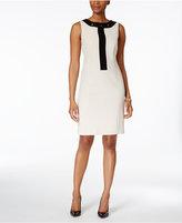 Nine West Colorblocked Grommet-Trim Dress