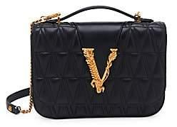 Versace Women's Medium Virtus Quilted Leather Shoulder Bag