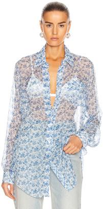 Acne Studios Chiffon Shirt in Blue & White | FWRD