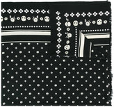 Coach skulls print scarf - women - Wool/metal - One Size