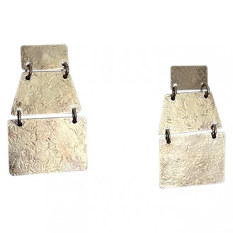 Annie Costello Brown Silver Silver Plated Earrings