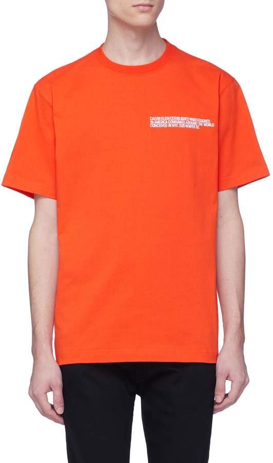 Calvin Klein Slogan embroidered T-shirt