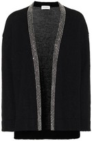 Saint Laurent Embellished wool and mohair cardigan