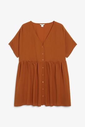 Monki Oversized smock dress
