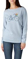 Sugarhill Boutique Floral Bicycle Sweatshirt, Blue/Multi
