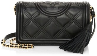 Tory Burch Fleming Leather Wallet-On-Chain