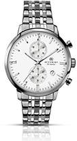 Accurist Men's Quartz Watch with Silver Dial Chronograph Display and Two Tone Stainless Steel Bracelet 7076.01
