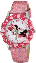 Disney Kids' W001596 Minnie Mouse Stainless Steel Watch with Pink Band