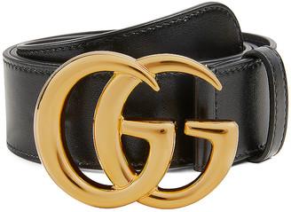 Gucci GG Leather Belt in Black | FWRD