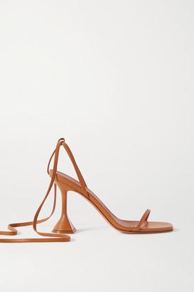 Amina Muaddi Vita Leather Sandals - Tan