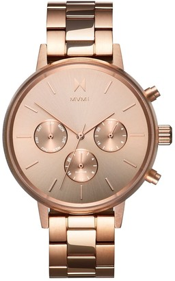 MVMT Womens Analogue Quartz Watch with Gold Tone Stainless Steel Strap D-FC01-RG