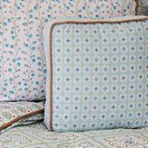 Caden Lane Modern Vintage Square Throw Pillow in Blue