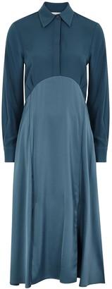 Victoria Victoria Beckham Blue panelled shirt dress