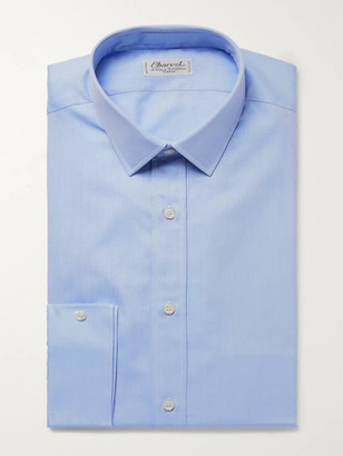 Charvet Blue Cotton-Twill Shirt