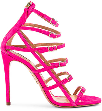 Aquazzura Super Model 105 Sandal in Exotic Pink | FWRD