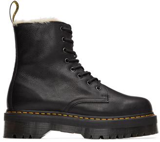 Dr. Martens Black Jadon Faux-Fur Lined Boots