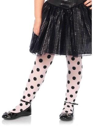 Leg Avenue Children's Polka Dot Tights, Medium, Age 4-6