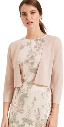 Phase Eight Womens Pink Salma Shimmer Knitted Jacket - Pink