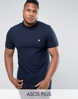 Asos Plus Muscle Polo In Navy