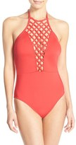 Kenneth Cole New York Women's 'Sheer Satisfaction' One-Piece Swimsuit