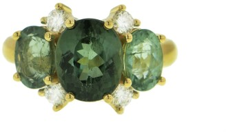 Irene Neuwirth One-Of-A-Kind Gemmy Gem Green Tourmaline Yellow Gold Ring