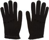 MM6 MAISON MARGIELA Black Wool Rib Knit Gloves