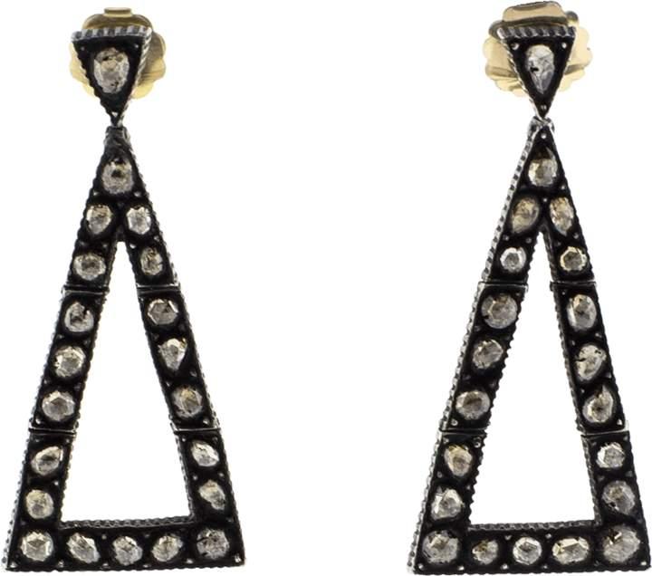 Yossi Harari Sara Triangle Earrings