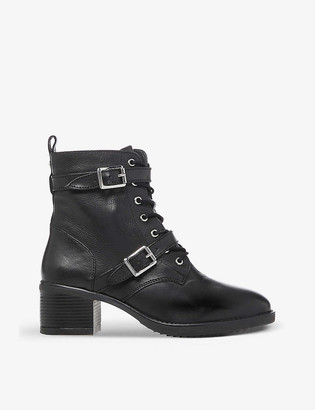 Dune Paxtone buckle-detail lace-up boots