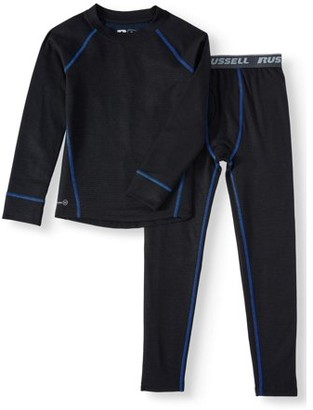 Russell Boys Performance Thermal Heavy-Weight Grid Dual Face Thermal Underwear Set, (Little Boys & Big Boys)
