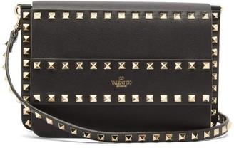 Valentino Rockstud Leather Cross-body Bag - Black