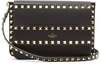Valentino Rockstud Leather Cross-body Bag - Womens - Black