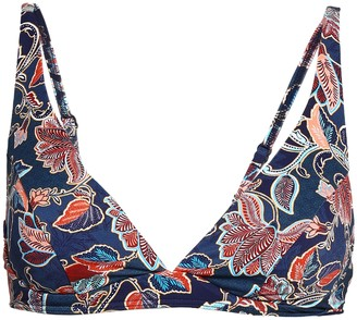 Jets Printed Underwired Bikini Top