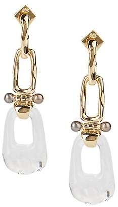 Alexis Bittar Future Antiquity 10K Yellow Goldplated, Lucite & Freshwater Pearl Drop Earrings