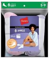 Hanes Women's 6pk Ankle Cushion Foot Casual Socks