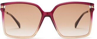 Givenchy Oversized Square Acetate Sunglasses - Womens - Pink Multi